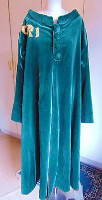 Vintage theatrical philosophers coat robe heavy green velvet Aposteriori Large