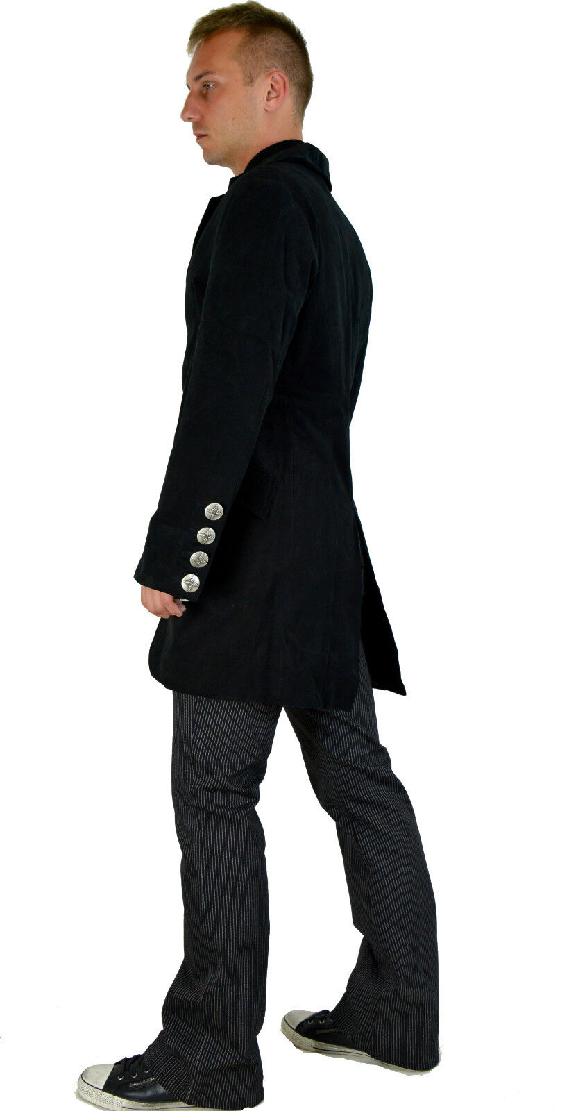 SHRINE GOTHIC VAMPIRE MILITARY VICTORIAN EDWARDIAN PIRAT COAT JACKET STEAMPUNK Clothing, Shoes & Accessories