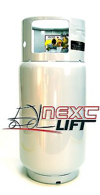 FORKLIFT PROPANE TANK LP LPG - NEW 33.5 LB WITH GAUGE - STEEL