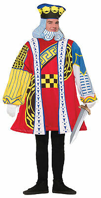 King Of Cards Adult Men's Costume King of Hearts Playing Cards Halloween Funny - Adult Halloween Cards