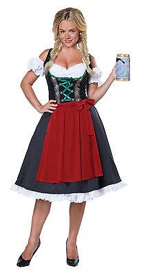 Oktoberfest Fraulein Tavern Bar Maid Adult Costume - Bar Maid Costume