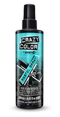 CRAZY COLOR Pastel Hair Color Spray Bubblegum Blue 250 ml / 8.45 fl oz NEW (Blue Hair Spray)