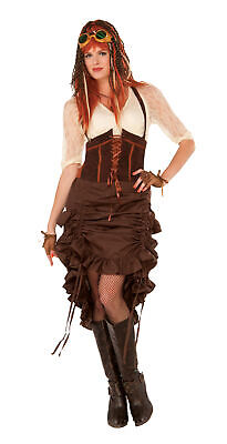 Ladies 1920s Victorian Fancy Dress Party Outfit Steampunk Skirt Costume New