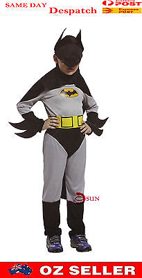 Halloween Boy Kids Batman outfit Hero Costumes 2-7 Years Old Fancy Dress - 7 Year Old Halloween Costumes