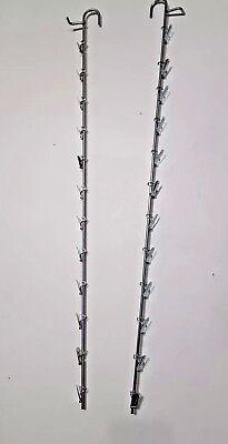 2 - 12 Clip Hanging Metal Wire Snack Potato Chip Single Strip Display Racks