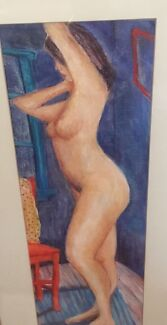 Nude in pastels by late Shoalhaven artist