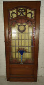 Single Antique American Stained Glass Door (05296)N