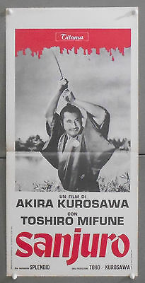 QS15 SANJURO AKIRA KUROSAWA TOSHIRO MIFUNE JAPANESE CINEMA orig ITALIAN Announcement