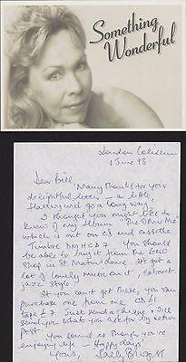 Sally Burgess. Operatic lyric mezzo-soprano. Signed Letter & Promo Card  QZ.2