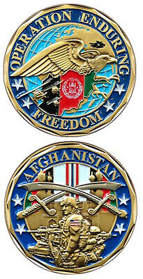 Operation Enduring Freedom Afghanistan - OEF Challenge Coin -