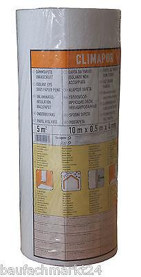Dämmtapete Unkaschiert 10m x 0,5m x 4 mm Climapor Isoliertapete Styroportapete