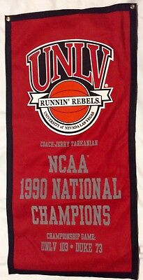 UNLV Runnin Rebels 1990 NCAA Basketball Banner Jerry Tarkanian](Basketball Banners)