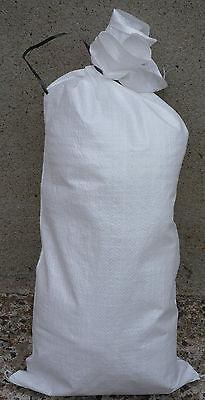 White Woven Polypropylene Sand Bags Empty Heavy Duty (Flood Sacks) 20x Bags Pack