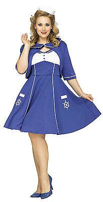 Fun World Women's Sweet Sailin' Plus Size Sailor Adult Costume 2X 22-24