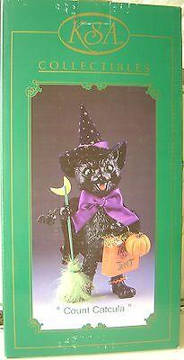 Halloween KSA Collectibles Kurt Adler COUNT CATCULA Fabriche Handpainted BLACK C](Kurt Adler Halloween)