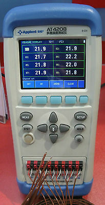 Handheld 8-channel Temperature Meter Recorder Thermocouple Tft Touch Screen Usb