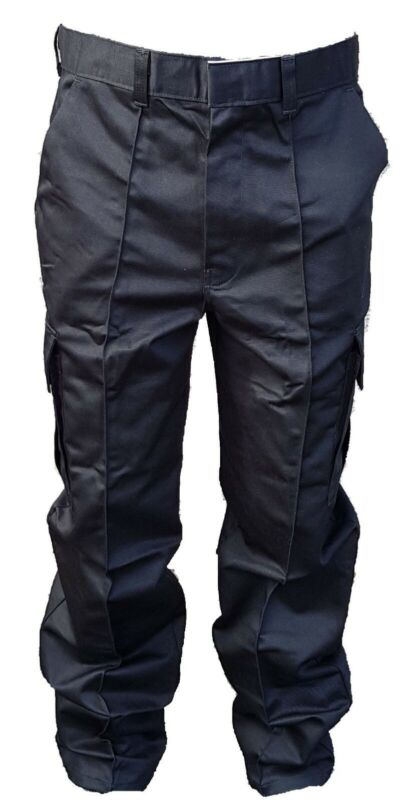 New  Male Cargo Trousers Black Tactical Patrol Security Dog Handler D4