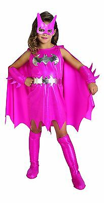 Batgirl Batwoman Batman Comic Pink Halloween Kostüm 882754 (Rosa Batgirl Kostüm Kind)