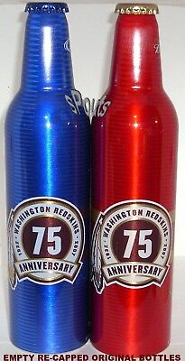 NFL FOOTBALL 2007 WASHINGTON REDSKINS 75th BUD+LIGHT ALUMINUM BOTTLES BEER CAN