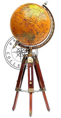 k Weltkarte Tisch Stativ Globus Ornament mit Holzständer (Globus Ornament)
