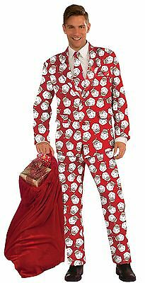 Men's Santa Formal Suit Costume Size Standard and XL - Fun Christmas Party