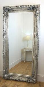 Chelsea Silver Ornate Leaner Antique Floor 72