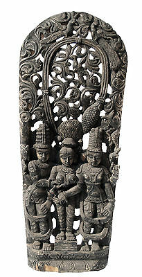 Antique Panel Wood Carved Statue Hindu 152 cm-60