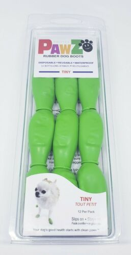 pawz tiny green dog booties