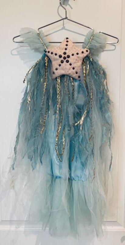 NEW Pottery Barn Kids Mermaid Dress With Head Band Halloween Costume, SZ 3T