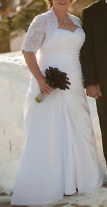plus size wedding dress and bolero