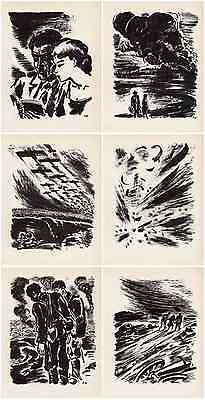 Frans MASEREEL - SCHICKSALE DESTINS 1943 KRIEG & FRIEDEN 6x