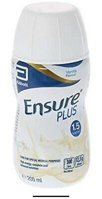 30 X Vanilla Ensure Plus Drinks - Energy Drink - Food Supplement - Gym Buildup