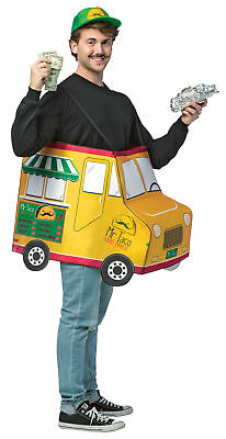 Mr. Taco Food Truck Adult Costume Tunic With Shoulder Straps Rasta - Truck Costume
