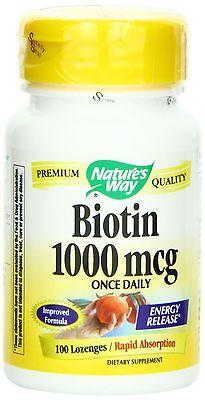 Biotin - 1000 mcg 100 Lozenges - Nature