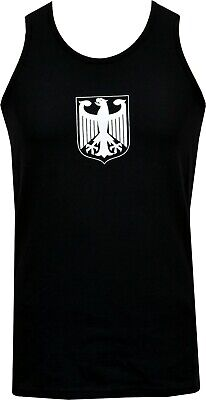Eagle Mens Fitted T-shirt (MENS BUNDESWEHR FITTED VEST TANK GERMAN MILITARY ARMY EAGLE PATCH VINTAGE)