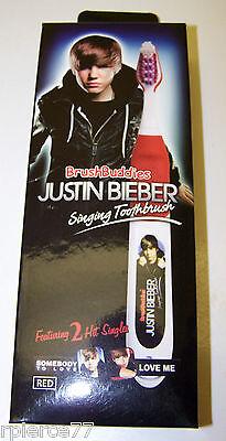 Brush Buddies   Justin Bieber Singing Toothbrush   Red White   Two Songs