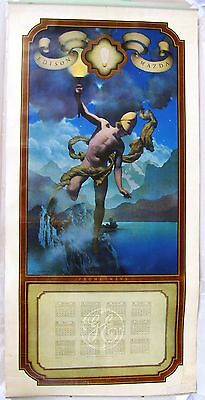 1920 Maxfield Parrish Large Format Calendar for General Electric: Prometheus