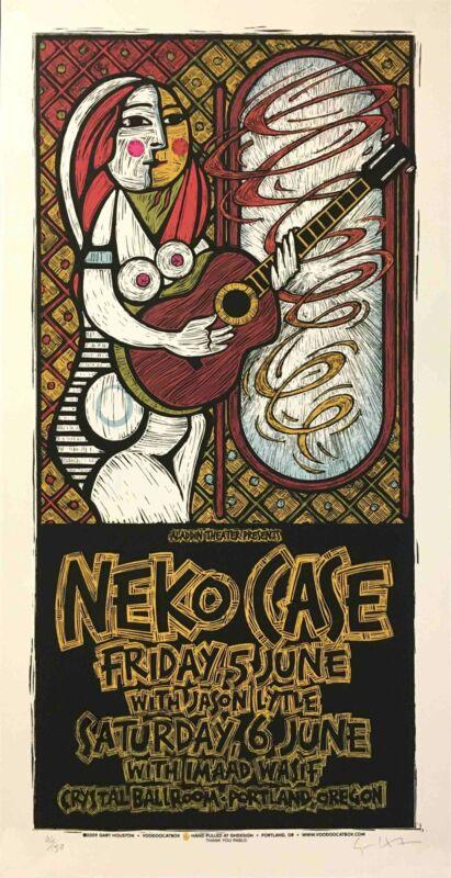 Neko Case Poster Jason Lytle Crystal Ballroom 2009 Hand-Signed by Gary Houston