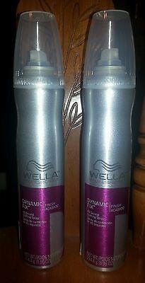 LOT OF 2 Wella  Dynamic Fix Hair Spray 45 Second Crafting Spray 8.96 oz each
