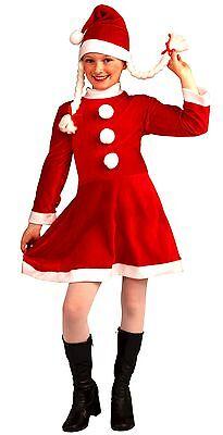 LITTLE MISS SANTA'S HELPER GIRLS CHRISTMAS HOLIDAY COSTUME SIZE MEDIUM (8-10)](Santa Costumes For Girls)