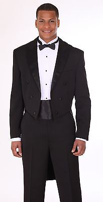 Polyester Gabardine the classic a tail coat Tuxedo with Modern Button T505 - Tux With Tails