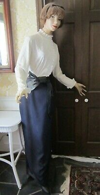 Vintage 6 Ft. Tall Female Store Mannequin - Composite Wood - Dressed - Vgc