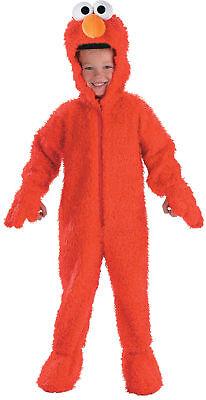 Elmo Plüsch Deluxe Kinder Kostüm Kleinkinder Sesamstraße Rot Overall Halloween