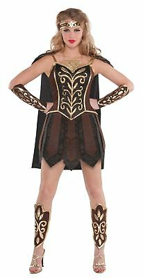 Ladies Gladiator Fancy Dress Costume Xena Warrior Princess Roman Spartan 10-12](Female Viking Warrior Costume)