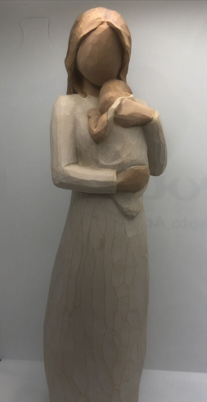 """Willow Tree Angel Of Mine Figurine 2003 Susan Lord Mother Baby 8.5"""""""