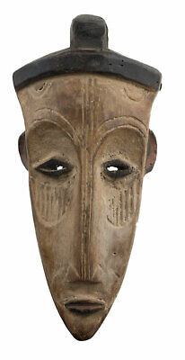 Mask Pasport Diminutive African Fang Ngil Gabon Wood 20cm Art Primitive 16923