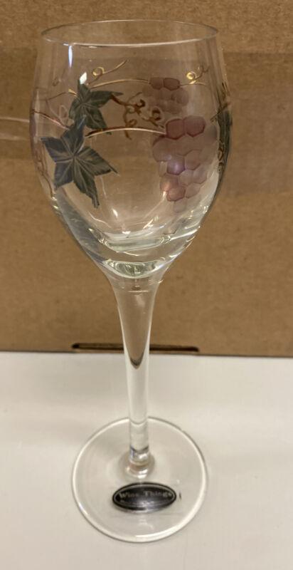 "Wine Things Handmade in Romania 7.5"" Tall Glass (Small Glass) - Unused"