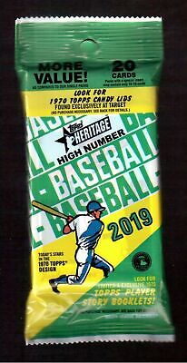 2019 Topps Heritage High Number Factory Sealed Fat Packs (3 Pack Lot)