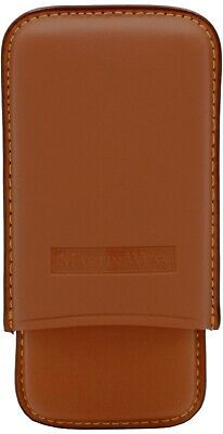 MARTIN WESS NATURAL SMOOTH GOATSKIN / COWHIDE LEATHER 5 CIGARILLO CASE ** NEW ** Cigarillo Natural Cigars