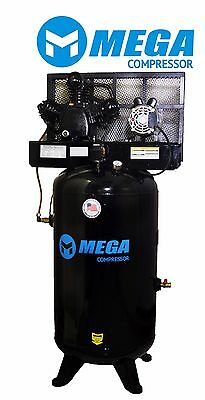 6.4 Hp Megapower Vertical Air Compressor 1 Phase 80 Gallon 2 Stage Mp-6580v